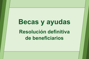 Resolución definitiva con los beneficiarios de becas